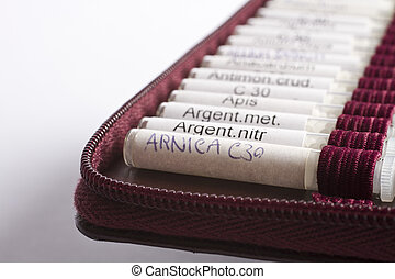 många, homeopatisk, droppe, använd, av, midwifes