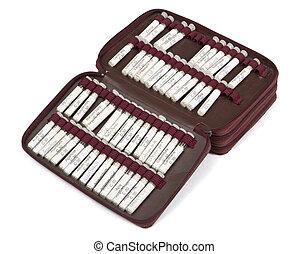 många, homeopatisk, droppe, med, annat, barnmorska, utrustning