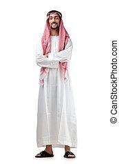 mångfald, begrepp, med, ung, arab