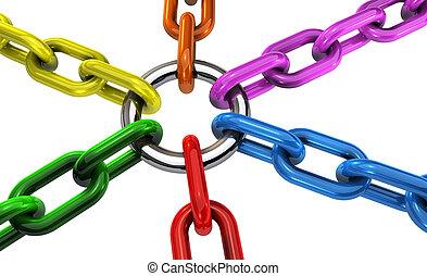 mångfald, begrepp, teamwork, inbegripande