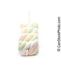 mångfald, marshmallows, på, a, käpp