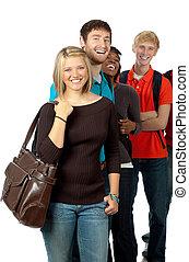 mångkulturellt, högskola studerande