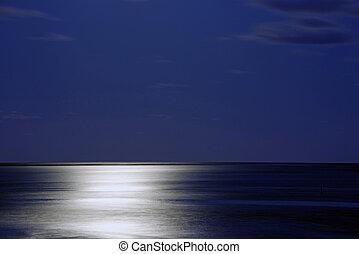 månsken, marinmålning