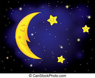 månsken, natt