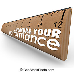 mått, din, utförande, ord, linjal, utvärdering, granska