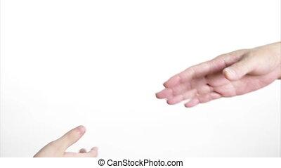 mère, possession main, fille