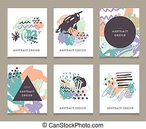 mères, arrière-plans, salutation, main, anniversaire, fête, dessiné, mariage, invitations, créatif, jour, cartes.
