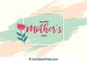 mères, conception abstraite, bannière, jour, heureux