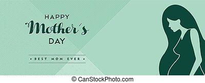 mères, média, couverture, illustration, social, jour, heureux