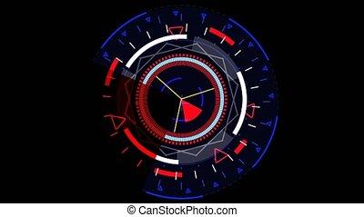 mètre, cycle, droit, moniteur, radar, rouges, numérique, ...