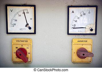 mètre volt, ampèremètre