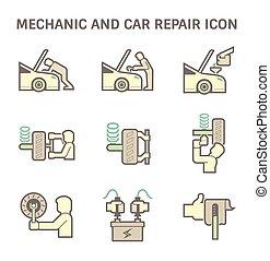 mécanicien, icône