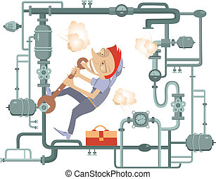 mécanicien, illustration