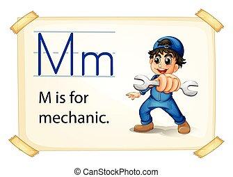 mécanicien, lettre m