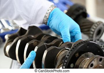 mécanicien moteur, service, centre
