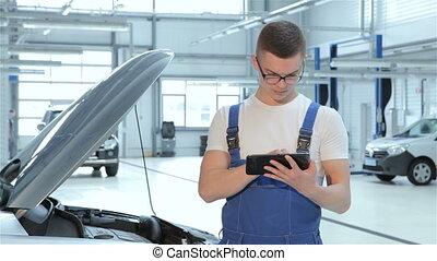 mécanicien, types, tablette