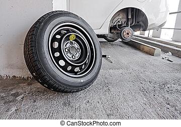 tool pneu m canicien voiture perle changer casseur photos de stock rechercher des. Black Bedroom Furniture Sets. Home Design Ideas
