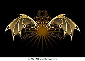mécanique, ailes, dragon