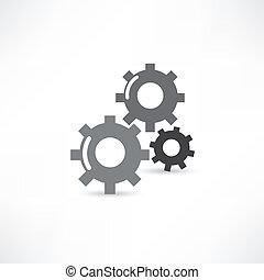 mécanique, icône