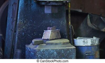 mécanique, vendange, marteau