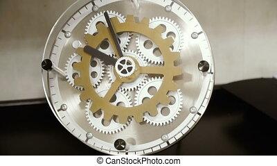 mécanique, watches., horloge, mur