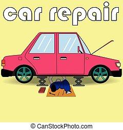 mécaniquede l'auto, service, réparation