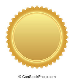 médaille, or