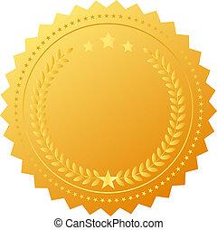 médaille, récompense, vide