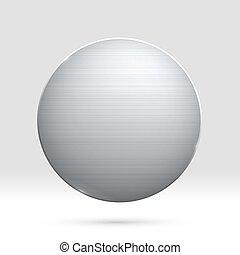 médaille, vecteur, gabarit, texture, rond, métal, poli