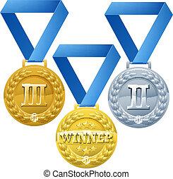 médailles, illustration