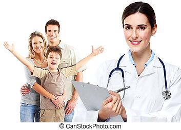 médecin de famille, patients., monde médical