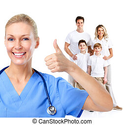 médecin de famille, woman.