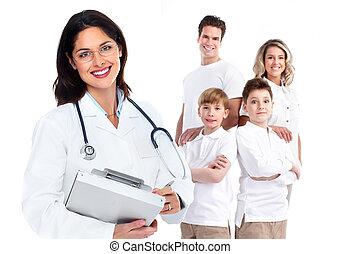 médecin de famille, woman., santé, care.