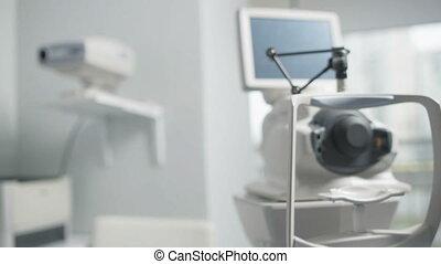 médecin, oeil, équipement laboratoire, spécial, vision, traitement