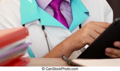 médecin, tablette, docteur, informatique, numérique, utilisation