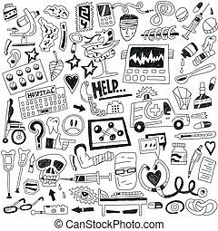 médecine, doodles