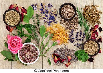 médecine fines herbes, naturel
