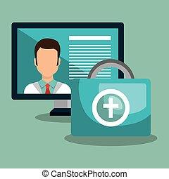 médecine, icône ordinateur