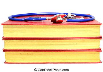 médecine, livres, vieux