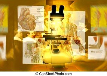 médecine, microscope