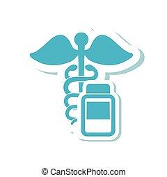 médecine, pot, monde médical, conception, soin