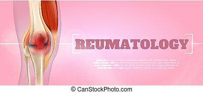 médecine, reumatology, 3d, illustration, réaliste