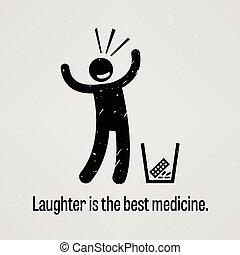 médecine, rire, mieux
