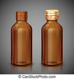 médecine, sirop, bouteille