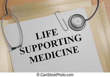 médecine, soutenir, vie, concept