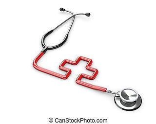 médecine, symbole, stéthoscope