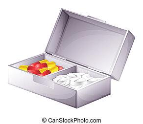 médecine, tablettes, capsules, kit