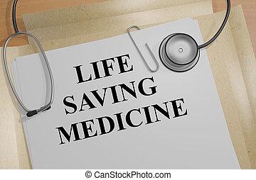 médecine, vie, concept, économie