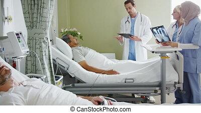 médecins hôpital, patient, 4k, lit, consultant