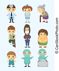 médecins, patient, gens